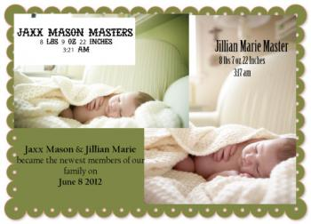 Like Sister Like Brother Birth Announcements