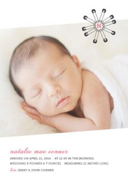 Baby Pins Birth Announcements