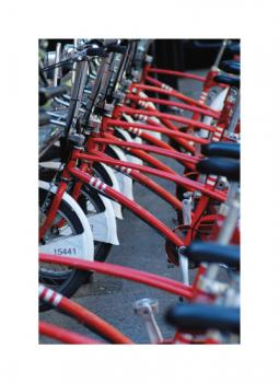 Red Bikes Art Prints