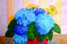 Hydrangea Bowl by Sarah and Caroline
