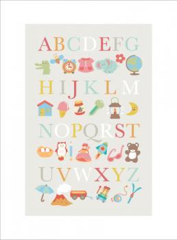 alphabet cuties Art Prints