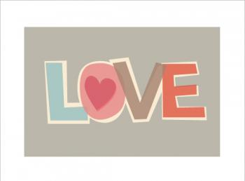 paper cut love Art Prints