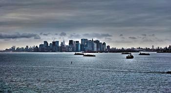 New York Skyline at dusk Art Prints