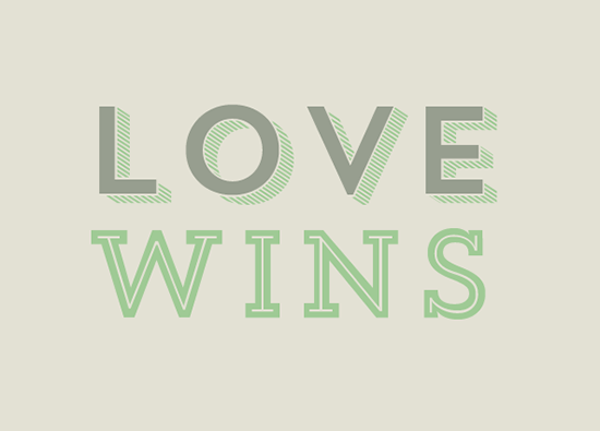 art prints - love wins by Cheer Up Press