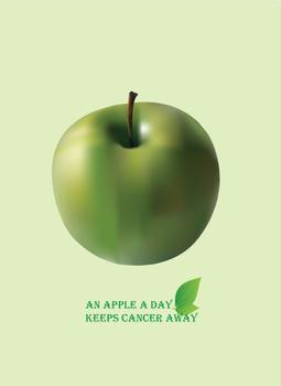 An Apple a day keeps cancer away Art Prints