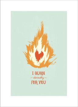 Burning Love Art Prints