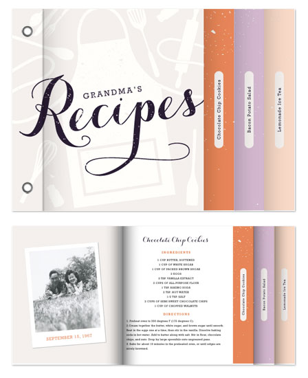 minibook cards - Book of Recipes by Serenity Avenue