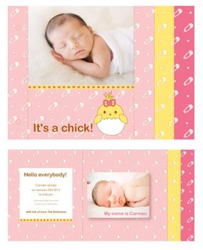It's a chick Minibook Cards
