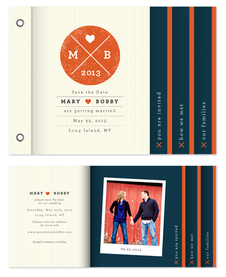 minibook cards - Orange and Blue by Tanya