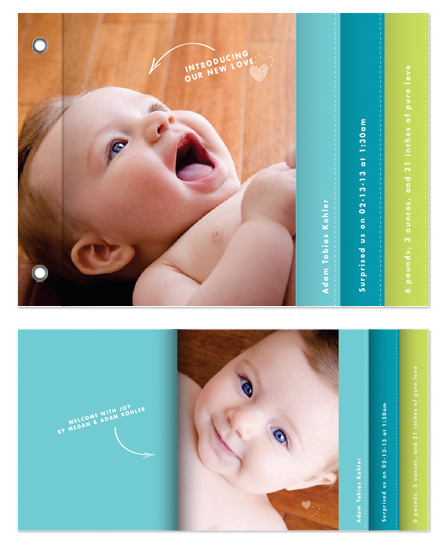 minibook cards - Introducing our New Love by Trendy Peas