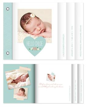 Sweet Baby Heart Minibook Cards
