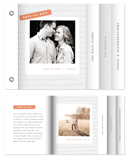 minibook cards - Herringbone by Jennifer Wick