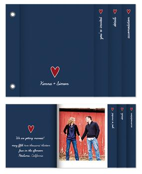 Blue Heart Minibook Cards