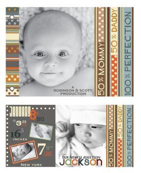 Baby Production Minibook Cards
