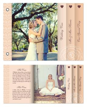 We Do Elegant Wedding Minibook Cards