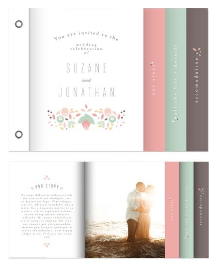 minibook cards - Modern Floral Frame by Phrosne Ras