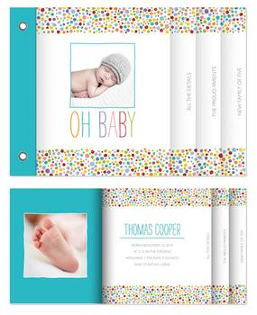 Polka Dotted Baby Minibook Cards