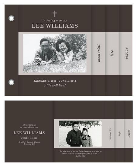 minibook cards - In Memoriam Book by Anne Kostecki