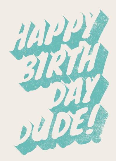 greeting card - Dude by GeekInk Design