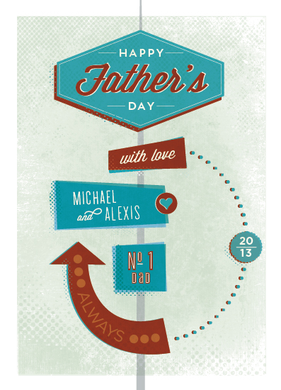 greeting card - Retro Dad by Rebecca Bowen