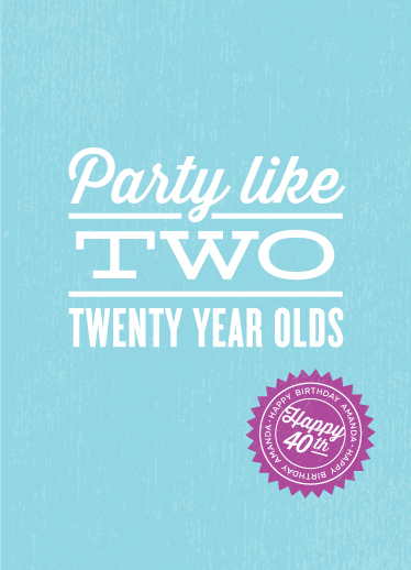 greeting card - Party Hard by sweet street gals