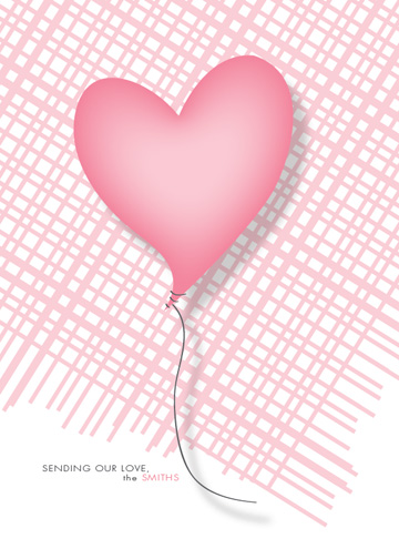 greeting card - Heart Shaped Balloon by Trendy Peas