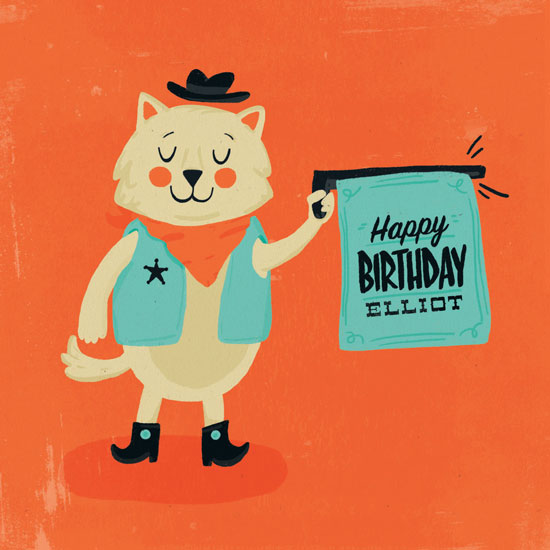 greeting card - Bang Bang Meow by Pistols