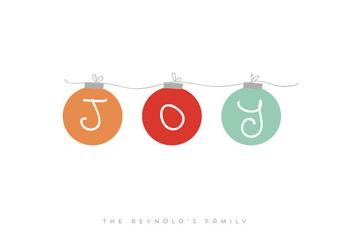 Joy Joy Joy! Non-Photo Holiday Cards