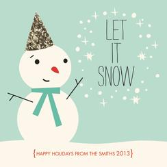 Let it Sparkle Non-Photo Holiday Cards