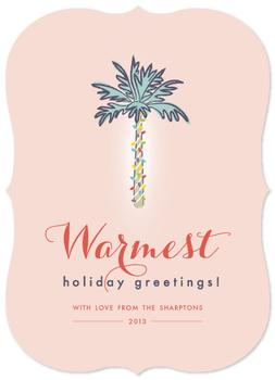 Warmest Holiday Greetings Non-Photo Holiday Cards