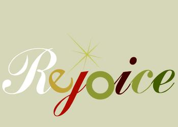 Rejoice for Colors Non-Photo Holiday Cards