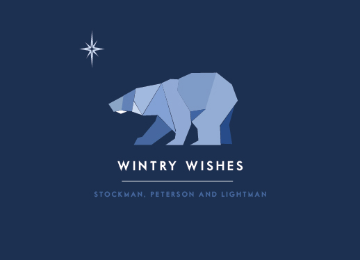 business holiday cards - Wintry Wishes by That Girl Press