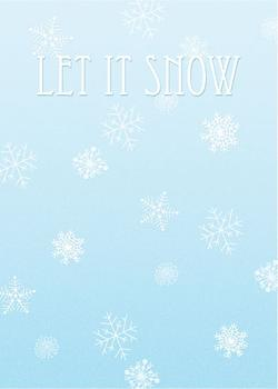 Let It Snow – Snowflakes Non-Photo Holiday Cards