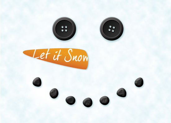 non-photo holiday cards - Let It Snow – Snowman by Giovanna Santoni