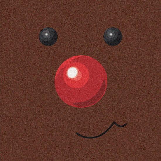 non-photo holiday cards - Cute Rudolph by Giovanna Santoni