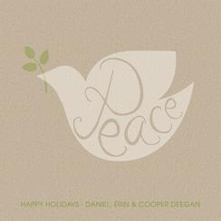 Peaceful Dove Non-Photo Holiday Cards