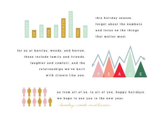 business holiday cards For the Numbers at Minted