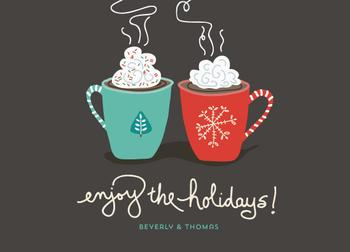 Hot Hot Coco! Non-Photo Holiday Cards