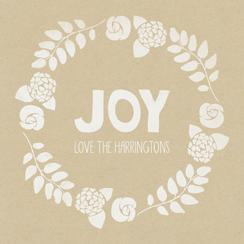 joy stamp Non-Photo Holiday Cards