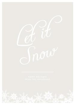 Snow Simple Non-Photo Holiday Cards