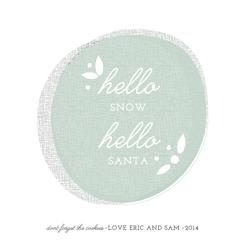 Hello Hello Non-Photo Holiday Cards