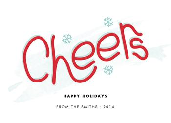 Custom Cheers Non-Photo Holiday Cards