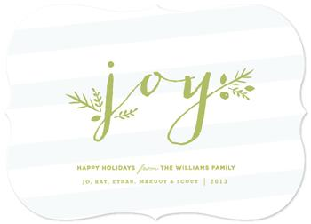 Greenery Joy Non-Photo Holiday Cards