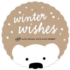 Polar Bear Wishes Non-Photo Holiday Cards