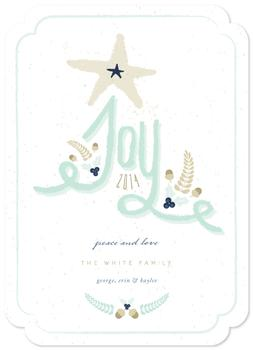 Joy Is Here Non-Photo Holiday Cards