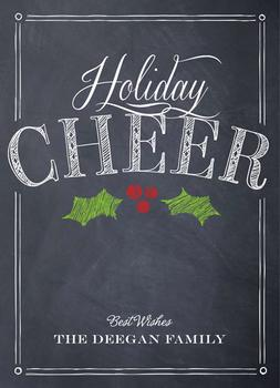Chalkboard Cheer Non-Photo Holiday Cards