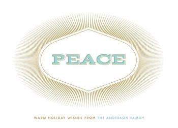 Vivid Peace Non-Photo Holiday Cards