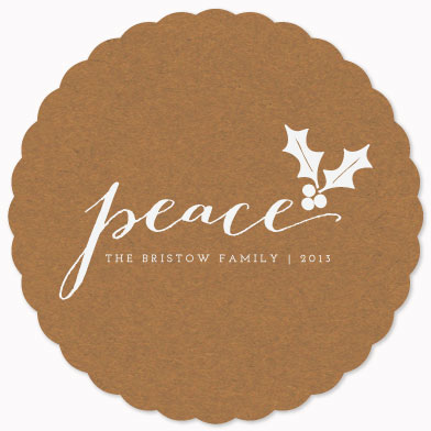non-photo holiday cards - wishes of peace