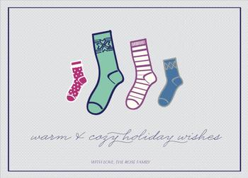 Family Socks Non-Photo Holiday Cards