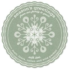 Sweet Snowflake Greetings Non-Photo Holiday Cards